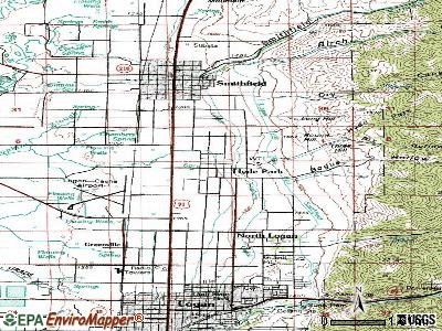 Hyde Park topographic map