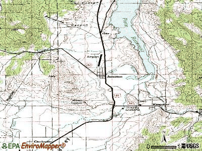 Junction topographic map