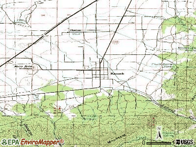 Kanosh topographic map