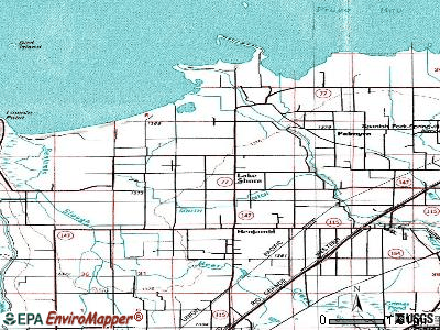 Lake Shore topographic map