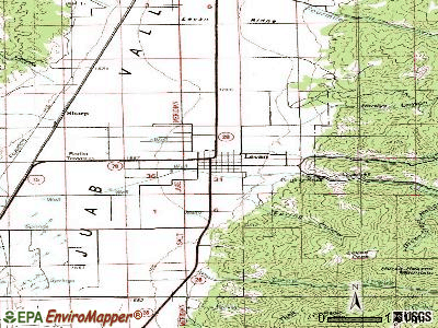 Levan topographic map
