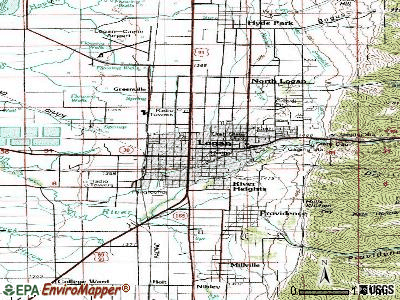 Logan topographic map