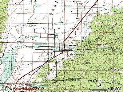 Manti topographic map