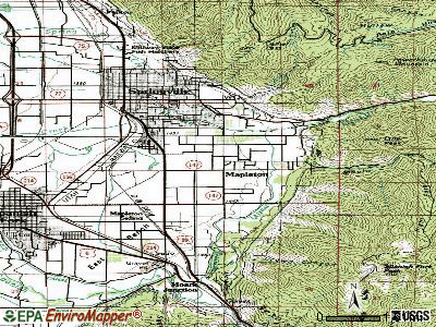 Mapleton topographic map