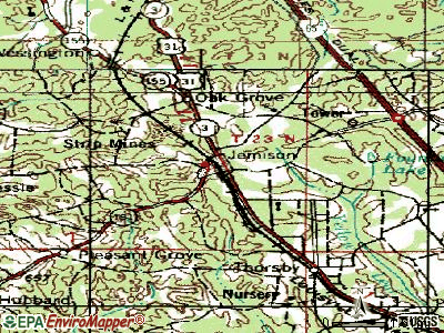 Jemison topographic map