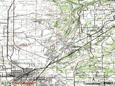 Rocklin topographic map