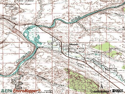 Moab topographic map