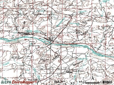 Montezuma Creek topographic map