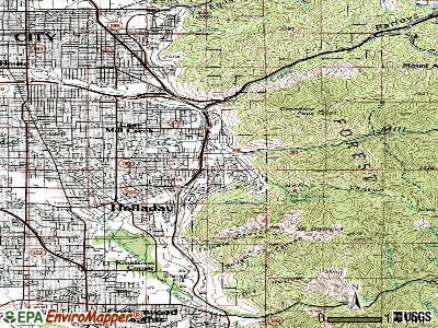 Mount Olympus topographic map