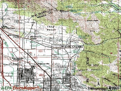 North Ogden topographic map