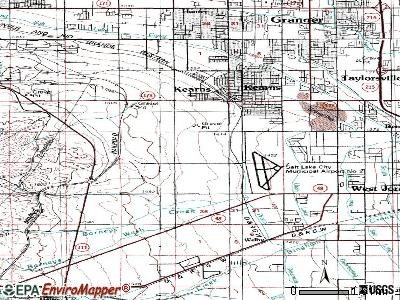 Oquirrh topographic map