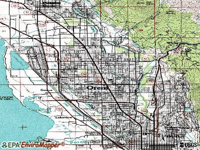 Orem topographic map