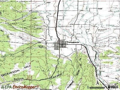Panguitch topographic map
