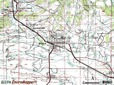 Price topographic map