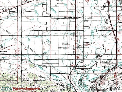 Riverton topographic map