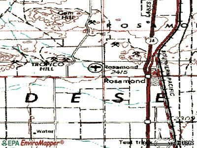 Rosamond topographic map