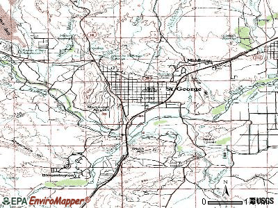 St. George topographic map