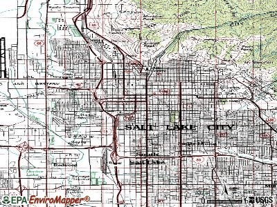 Salt Lake City topographic map