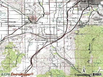 Santaquin topographic map