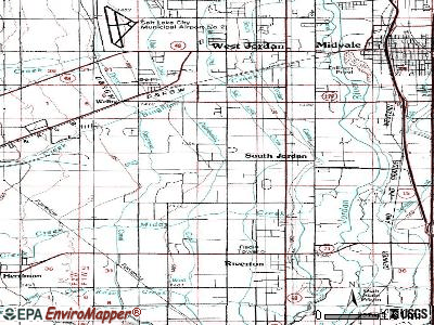 South Jordan topographic map