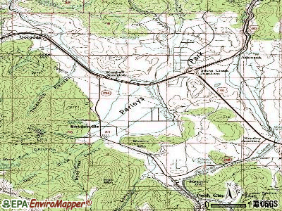 South Snyderville Basin topographic map