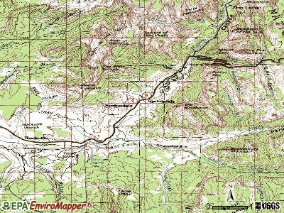 Springdale topographic map