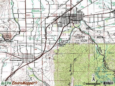 Spring Lake topographic map