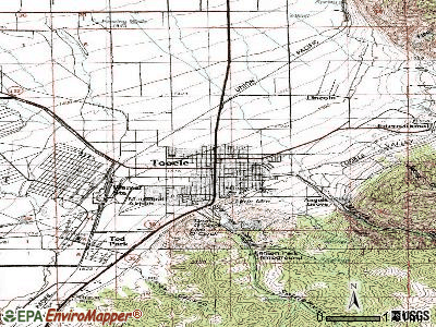 Tooele topographic map