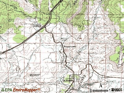 Toquerville topographic map