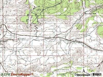 Virgin topographic map