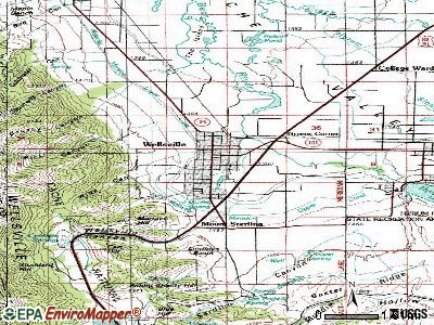 Wellsville topographic map