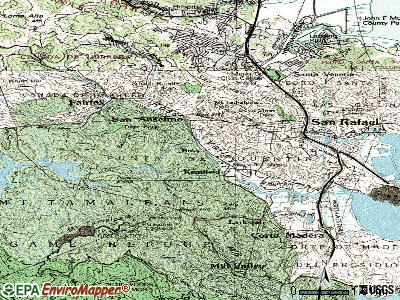 Ross topographic map