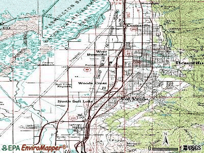 Woods Cross topographic map