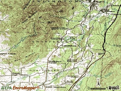 Shaftsbury topographic map