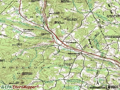 Sheffield topographic map