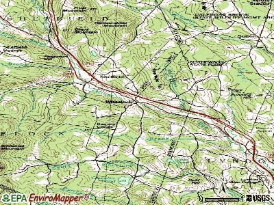 Wheelock topographic map