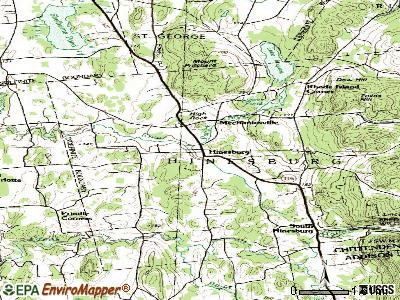 Hinesburg topographic map