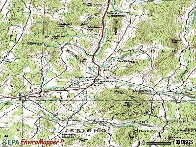 Underhill topographic map