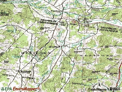 Westford topographic map