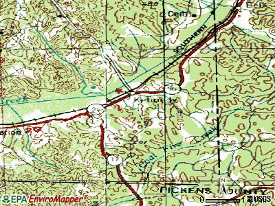 Kennedy topographic map