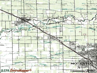 Salida topographic map