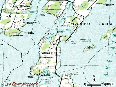 North Hero topographic map