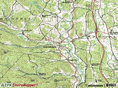 Randolph topographic map