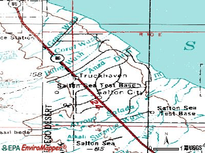 Salton City topographic map