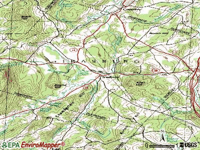 Irasburg topographic map
