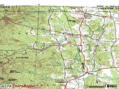 Jay topographic map