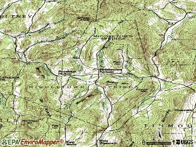 Middletown Springs topographic map