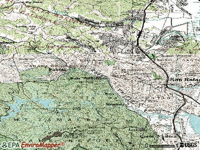San Anselmo topographic map