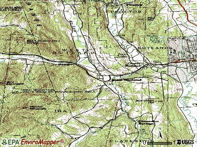 West Rutland topographic map