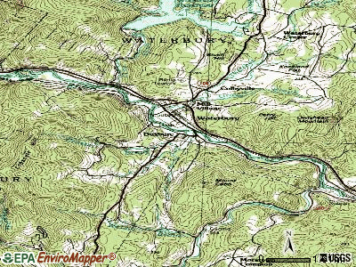 Duxbury topographic map